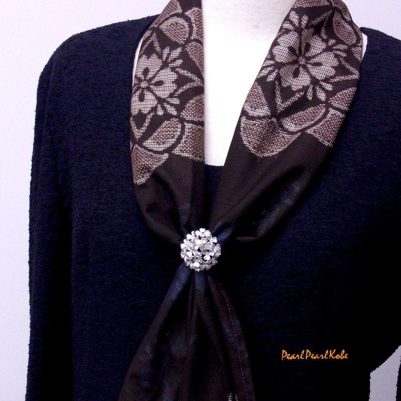 紫陽花 パールスカーフリング