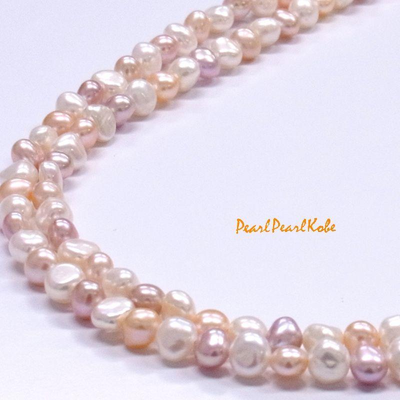 マルチカラー バロック真珠
