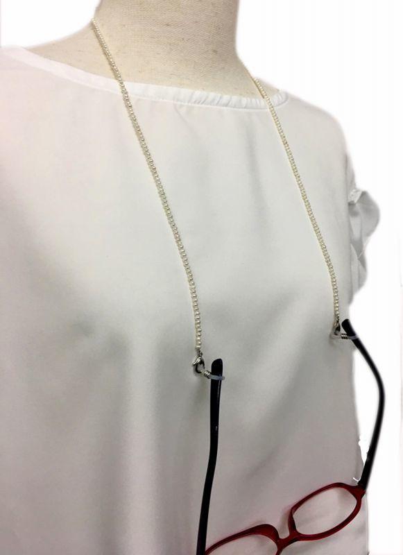 パールメガネチェーン ホワイト ネックレス