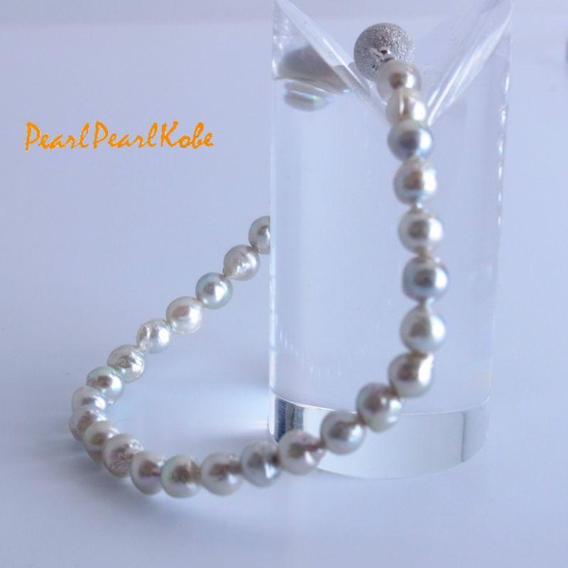 本真珠 ナチュラルカラー バロック真珠 ブレスレット
