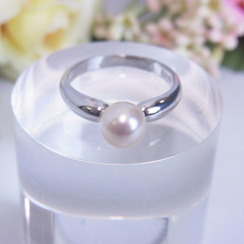 あこや真珠 パールリング 6-6.5mm シルバー素材