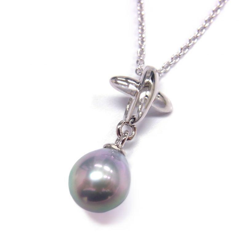 ナチュラルグレー バロック真珠