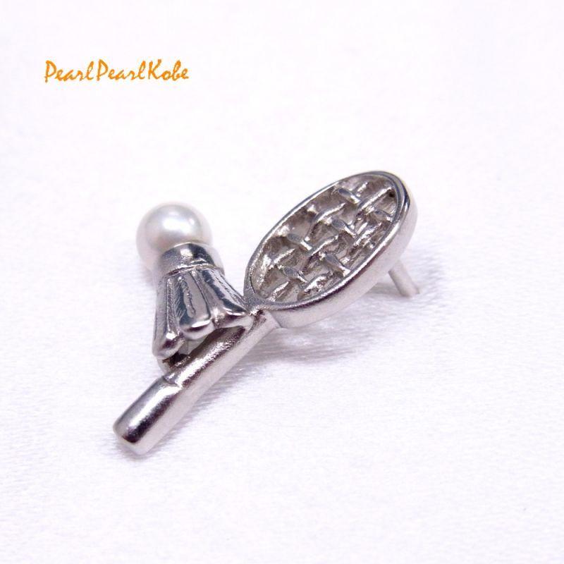 バドミントン パールタックブローチ あこや本真珠