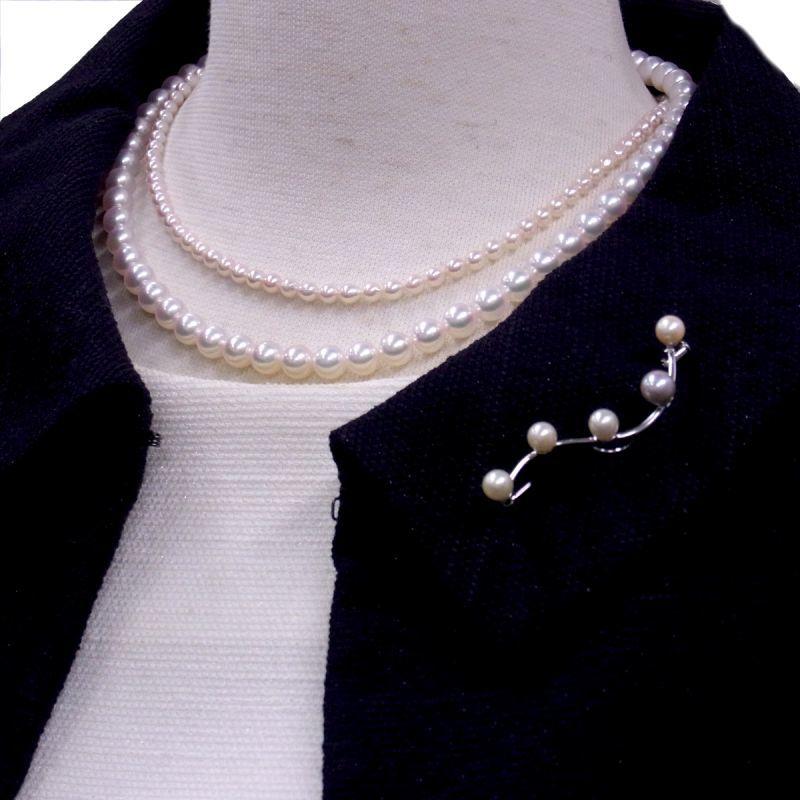 パールブローチ あこや真珠ネックレス