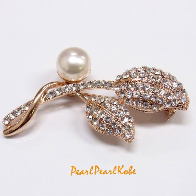 淡水真珠 パールブローチ