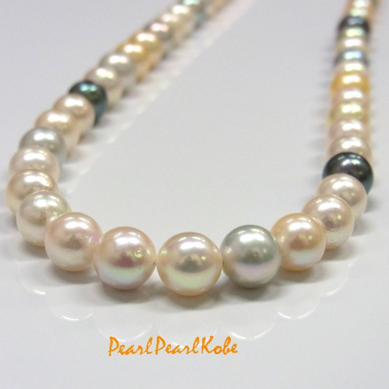 アコヤ真珠 マルチカラーネックレス