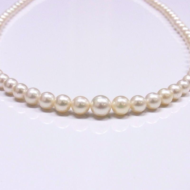 あこや真珠 グラデーションネックレス クリーム色