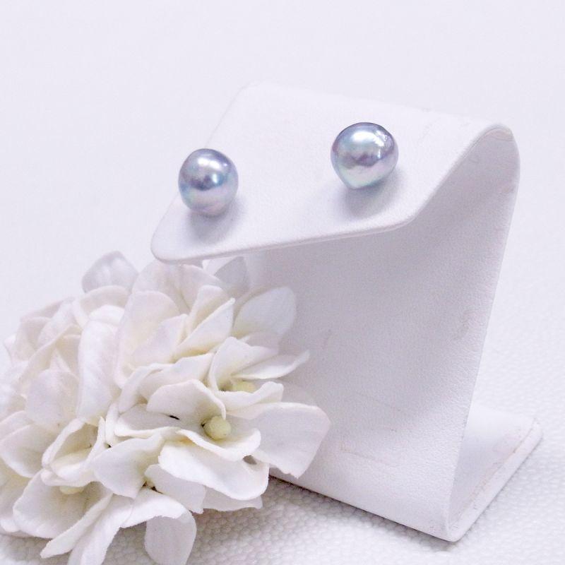あこや本真珠 バロック真珠 ナチュラルグレー 10mmup