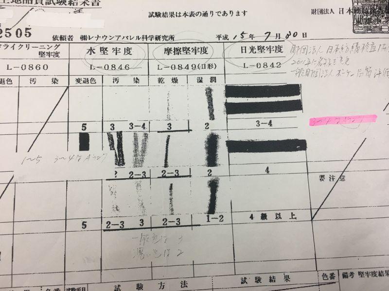革紐検査 日本紡績検査協会
