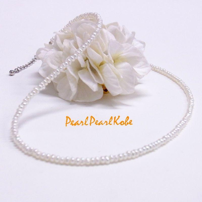 ベビーパールネックレス 淡水真珠